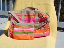 Le Sportsac Weekender Large Yoga Gym  Office Tote  Baha Stripe # 7185 D415  NWT