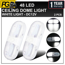 Camper RV 2 Pcs 5050 Fixture 48 SMD LED 12V Natural White Ceiling Dome Light