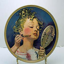 Making Believe in the Mirror Collector Plate by Norman Rockwell