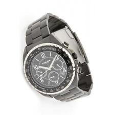 POLICE 14343JSBS/02M Mens Navy V Tachymeter Black Metal Bracelet Watch RRP £215