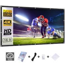 120 Inch 16:9 Projector Screen Indoor Outdoor Portable Movie Projection Screen