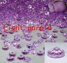 300pcs 10mm(4CT) Acrylic Diamond wedding Party Table 3D Decoration Light purple