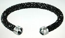 Bracelet Swarovski Crystaldust Cuff Black 5250073 5255906