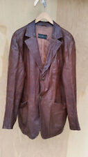 GIMO'S Leather Jacket - Brown Leather Jacket - made in Italy - Supple Leather L