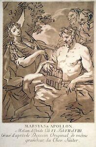 Pinselätzung, Apollo und Marsyas, D. Seiter/ J.A. Schweickart, um 1760, N 10