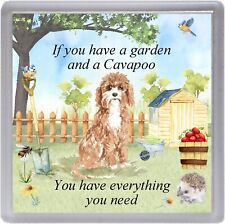"""Cavapoo Dog Coaster """"If You Have a Garden ..."""" Quality Gift by Starprint"""