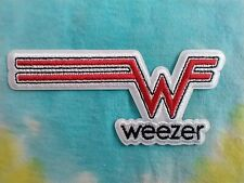 Weezer Red Logo 4 Inch Iron On Patch