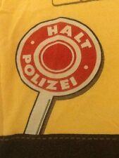 "Child's Medium or Adult Small German ""Polizei"" Costume Police Print T-Shirt"
