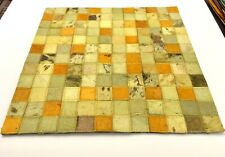 SURYA Rug Leather Hair on Hide Carpet Tile Hand Craft Yellow, Saffron Lime 18x18