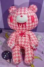 Pink And White Houndstooth Gloomy Bear Plush From Japan