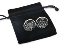 MASONIC FREEMASON GIFT PERSONALISED CUFFLINKS PERSONALISED WITH OWN LODGE NO.