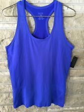 YUMMIE BY HEATHER THOMPSON NWT $ 56 MSRP BLUE LEILA RACER TANK TOP SZ: S/M -NEW-