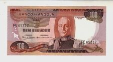 Angola 100 Kwanzas 1972  FDS  UNC    pick 101 lotto 967