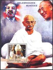 Guinea Bissau 2003 Pope John Paul II/Gandhi/Dalai Lama/King/People m/s n41406