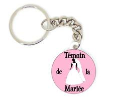 Porte clé badge TÉMOIN DE LA MARIÉE idée cadeaux MARIAGE PERSONNALISATION MARIÉ