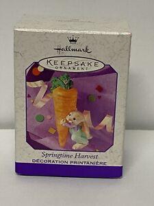 1999 Hallmark Ornament EASTER  SPRINGTIME HARVEST carrot rabbit NIB