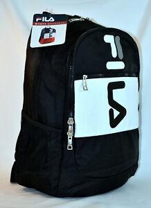 New Fila Wyatt Retro Laptop Backpack -- Black/White