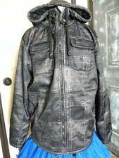 Hoodiebuddie Men's Large Jacket Faded Digital Black Camo Built In HB3 Earbuds