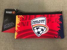 Small A-league Adelaide United F.c. Neoprene Pencil Case 13cm X 23.5cm