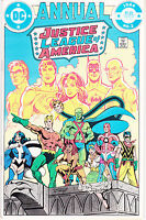 JUSTICE LEAGUE OF AMERICA: ANNUAL 2 - 1st APP VIBE (MODERN AGE 1984) - 8.0