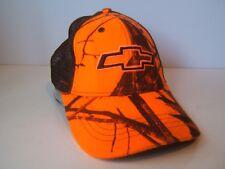 Orange Camo Chevrolet Hat Chevy Snapback Trucker Cap