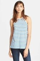 NWT T By Alexander Wang Womens Tank Top Shirt Stripe Blue White M $120