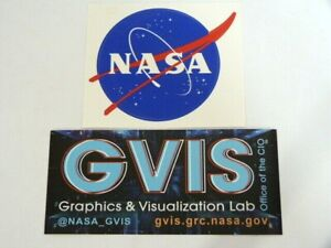NEW* Genuine Collector 2 x GVIS+ NASA logo stickers from Glen Center Cleveland