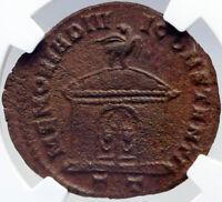 DIVUS CONSTANTIUS I Chlorus Memorial Altar Ancient 305AD Roman Coin NGC i82606