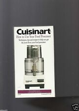 Cuisinart - How To Use Your Food Processor (VHS, 1998) DLC-10