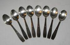 Ancien 8 petites cuillères Christofle métal argenté Glace café Poinçon Art Déco