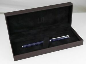 dunhill New-Gemline Navy Blue Lacquer Fountain Pen M (MINT) FREE SHIPPING