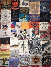 Vintage T Shirt Lot Of 35 Graphic Tee Sports Souvenir Single Stitch 80's 90's