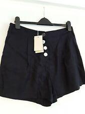 Schöne * Boden * Marineblau Leinen Blend Shorts Gr. 14 NEU mit Etikett