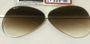 Authentic RAY BAN RB3025 58mm Light Brown Gradient Replacement Lenses Aviators