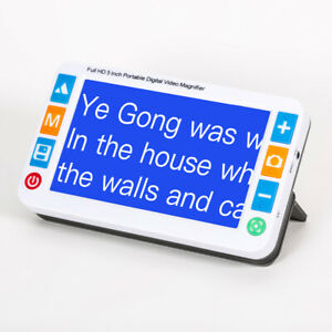 Eyoyo 5.0 inch,Handheld Portable Electronic Video Magnifier,Near Voice Read Aids