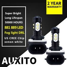 2x For Kia Rondo 2012 - 2007 CREE 889 881 LED Fog Light bulb 6000K Xenon white F