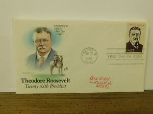 FIRST DAY ISSUE STAMP THEODORE ROOSEVELT 1986