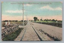 """Kentucky's Oiled Roadway"" Interurban Trolley Train Tracks LEXINGTON Railroad"