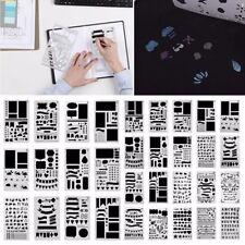 12/20pcs Bullet Journal Stencil Set Plastic Planner Drawing Template Diary DIY