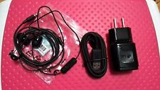 LG  Charger + Micro USB Data Cable 3 Ft + ear eadset