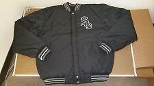 JH Design Chicago White Sox Baseball Jacket Black / Grey Size M L XL 2XL