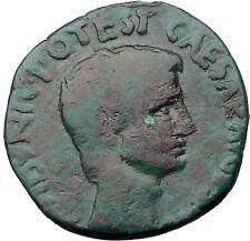 Augustus 15BC Authentic Ancient Roman Coin C. Plotius Rufus moneyer i31761