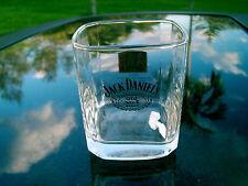 """JACK DANIEL'S 1913 GOLD MEDAL  BELGIUM SQUARE BOTTOM WHISKEY GLASS  LOGO 3 3/8"""""""