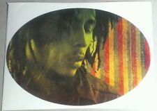 Bob Marley Photo Rd Grn Yw Stripes Oval Rasta Official Guitar Case Amp Sticker