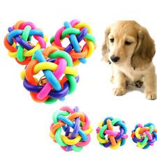 6.5cm Durable Dog Puppy Pet Knot Cotton Rope knotted Sound Ball Bell Chewing Toy