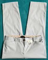 Talbots size 10 light blue pockets belt loops tapered women crop capri pants NWT