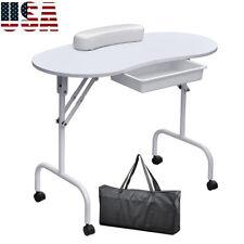 Mini Manicure Nail Table Portable Station Assembling Desk Beauty Salon Equipment