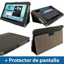 Negro Funda Eco-Piel para Samsung Galaxy Tab 2 10.1 P5100 P5110 Case Cover