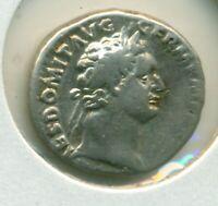 Domitian Denarius 81-96 AVF Minerva/Owl Imp XIX Cos XIIII Cens PPP