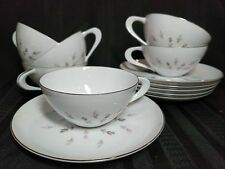 Set of 6 Tea Cups and Saucers Petite Bouquet China by Japan